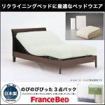 【フランスベッド】のびのびぴった3点セット リクライニングベッドに最適な寝装品!