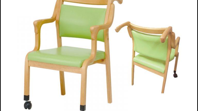 【貞刈椅子】ケアAC105 楽に押せる介護用・高齢者用チェア