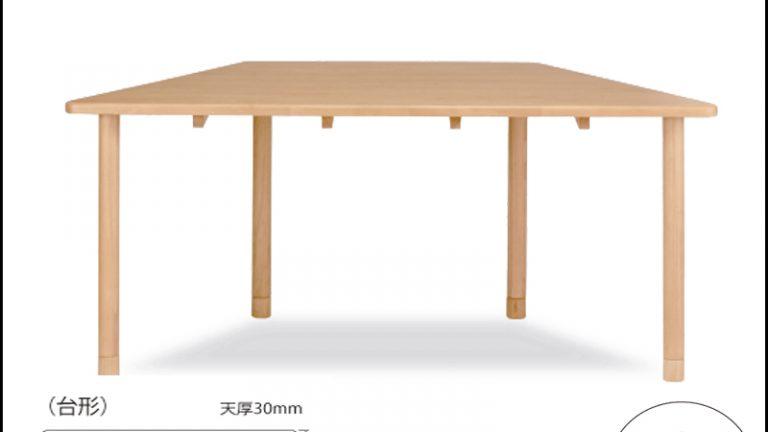 【貞刈椅子】ケアTT2 介護用・高齢者用車イス対応台型テーブル