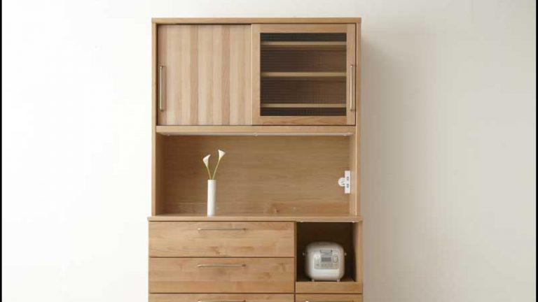 【モーブル】アペティー 木質感だけじゃない使いやすい多機能食器棚
