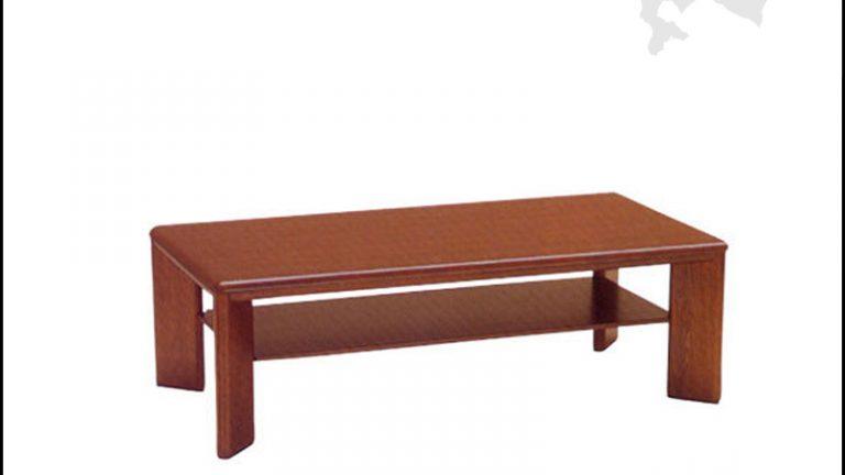 【ウサミ木工】ひろま ナラ天然杢の高さが選べれるリビングテーブル