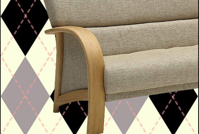 【カリモク】WT33モデル 美しい曲げ木加工のアームの温もりを感じられるソファ