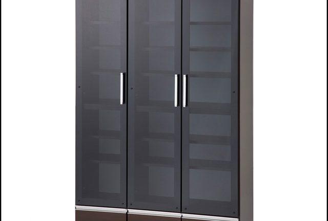【松田家具】ガーネット フリーボードになるブラックガラス本棚